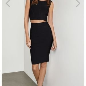 Bcbg black bandage skirt small